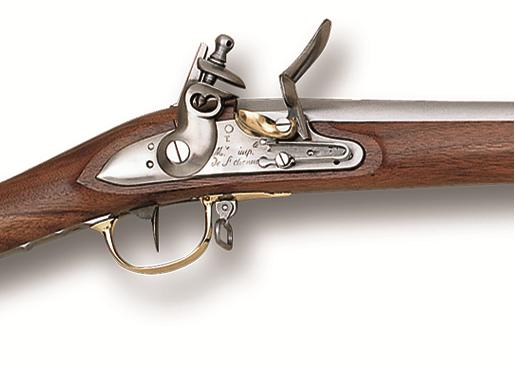 Křesadlová puška AN IX Dragoons cal. .69 - detail křesadlového zámku