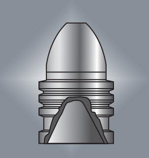 Licí forma Lyman .58 Caliber Blue-Gray Target Hollow Base