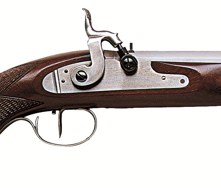 Perkusní pistole Charles Moore Target cal. .45- detail zámku