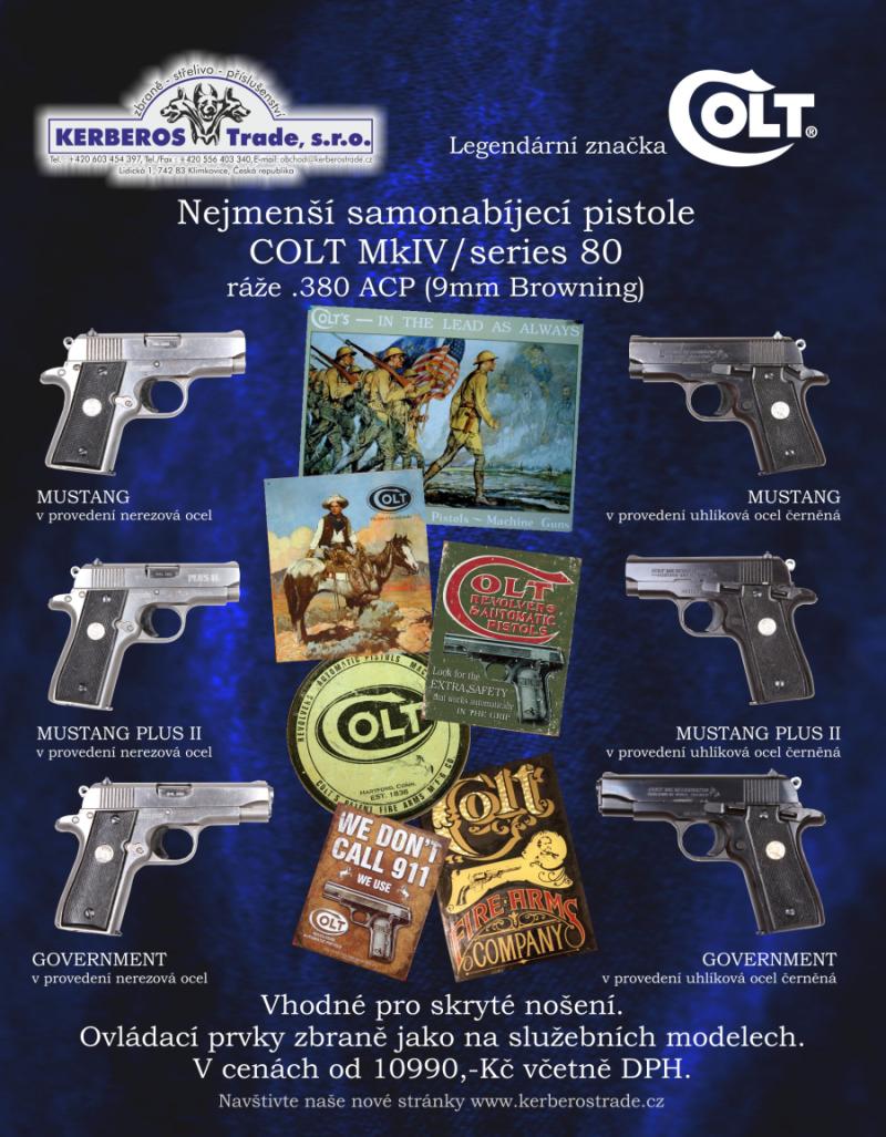 Novinky - Samonabíjecí pistole Colt