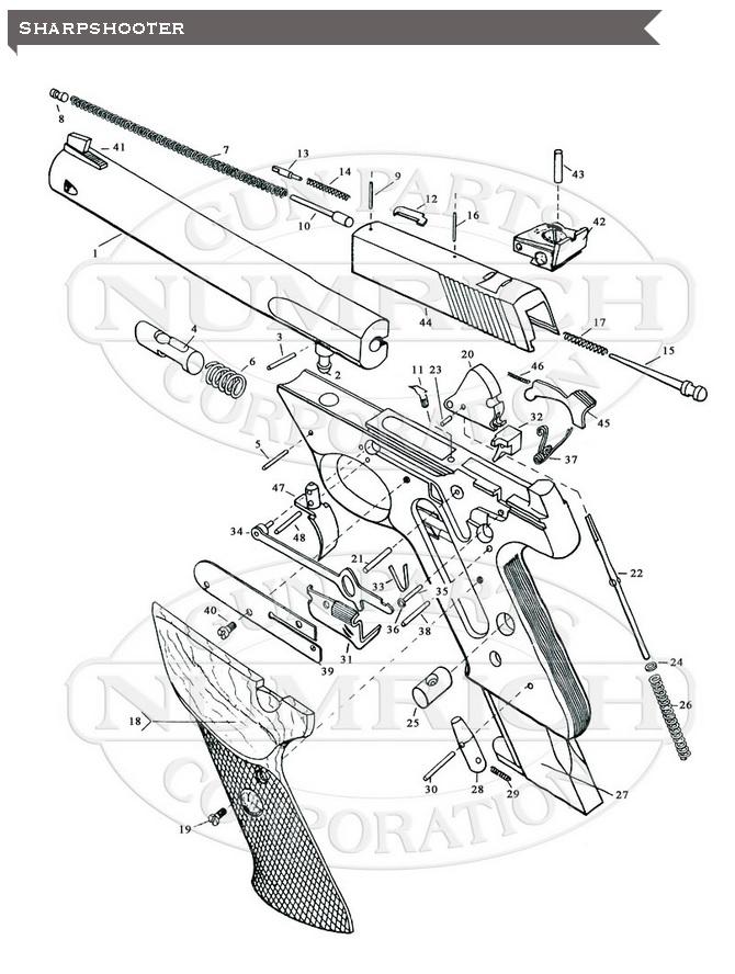 Pistole High Standard Sharpshooter r.22LR schéma