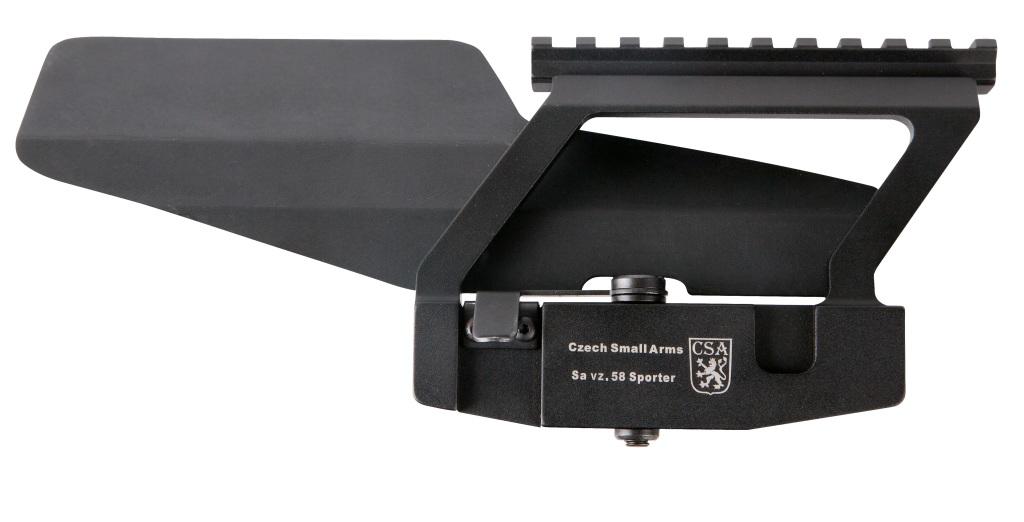 Boční montáž s weaver lištou - pro delší optický zaměřovač