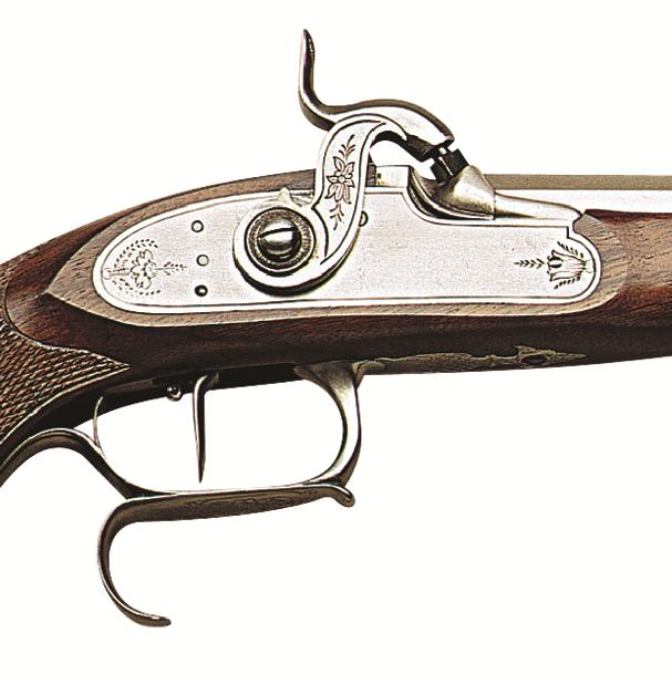 Perkusní pistole Le Page Target cal. .36, .44.  - detail zámku