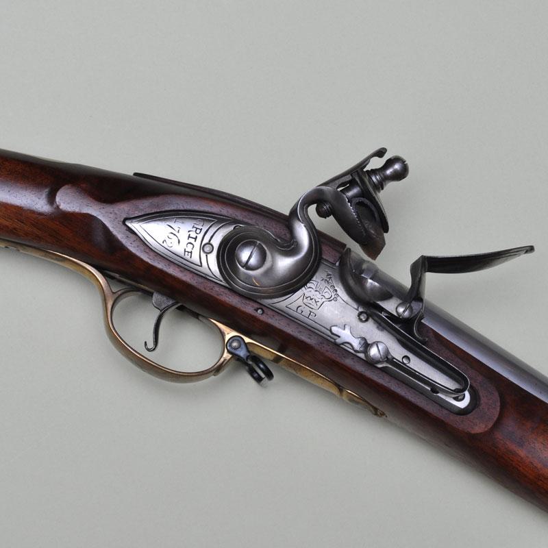 Křesadlová puška Brown Bess cal. .75 - detail křesadla