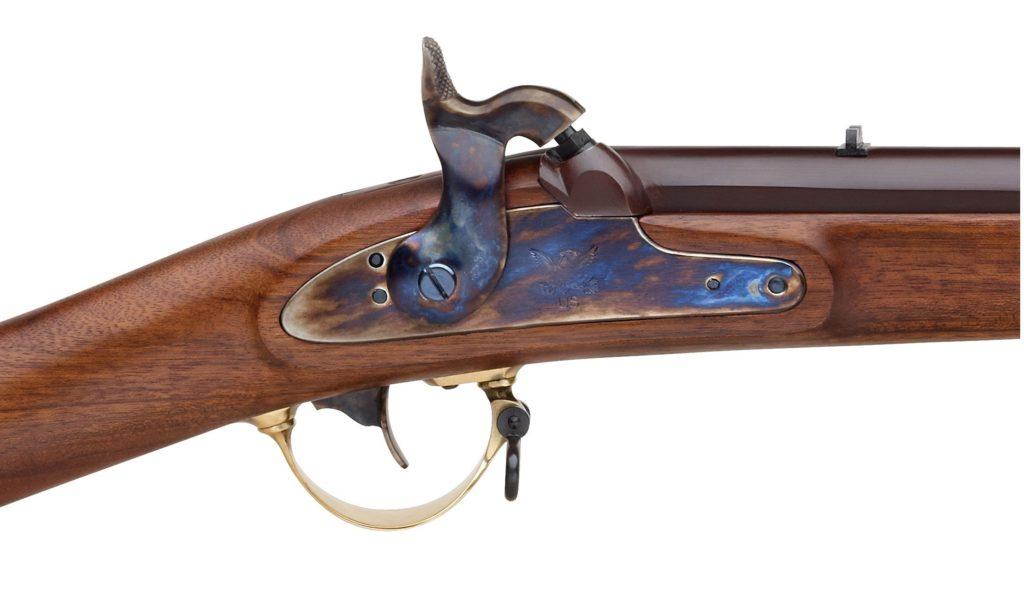 Perkusní puška S. 201 Mississippi US Model 1841  - detail zámku
